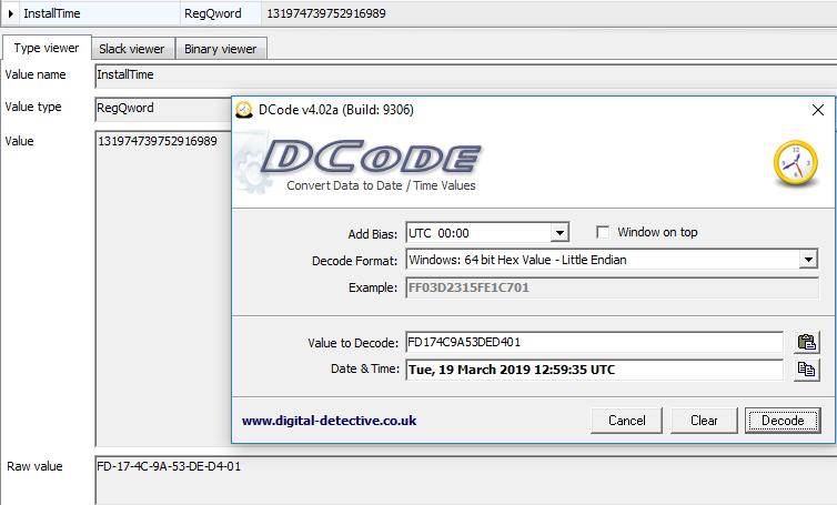 Windows InstallTime vs InstallDate Registry Values | B!n@ry